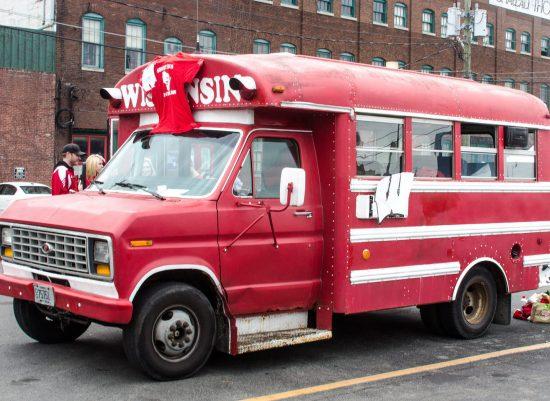 Wisconsin Badgers bus