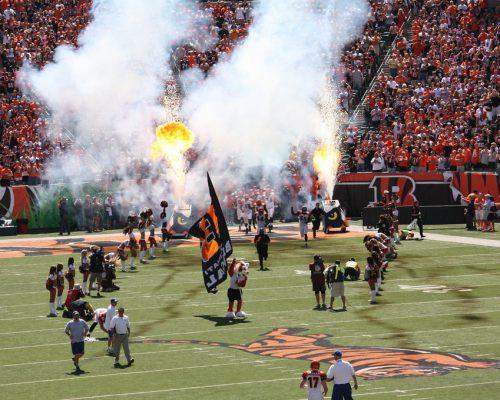 Cincinnati Bengals players entrance at Paul Brown Stadium