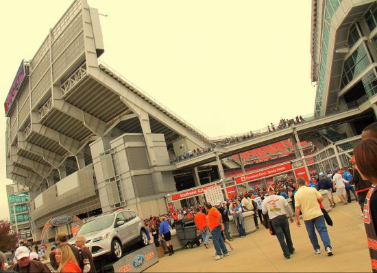 Cleveland Browns fans at FirstEnergy Stadium