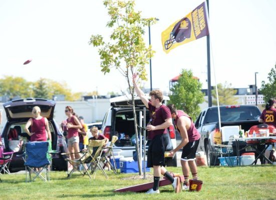 CMU Chippewas tailgating