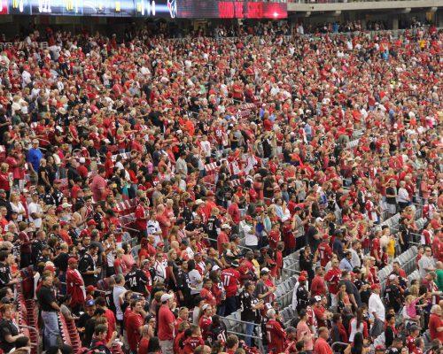 Arizona Cardinals fans football game