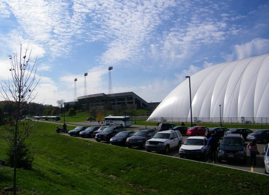 Rynearson Stadium parking lot EMU Eagles football game