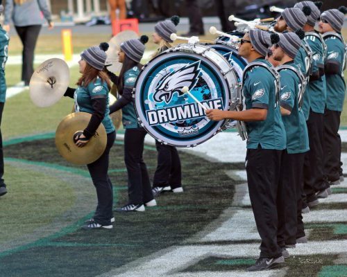 NFL Philadelphia Eagles drumline band