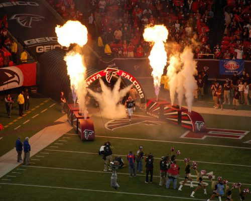 Atlanta Falcons players entrance