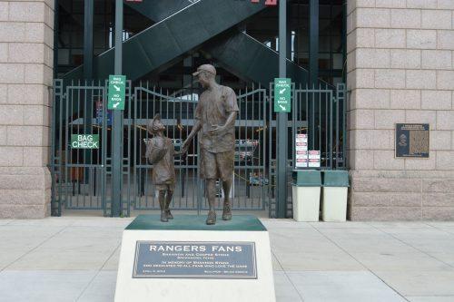 Texas Rangers Fans Statue