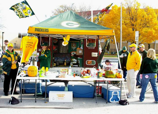 Green Bay Packers tailgaters on game day