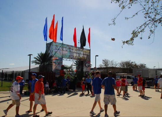 Florida Gators fans tailgating