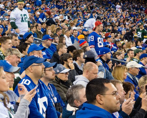 New York Giants fans at MetLife Stadium