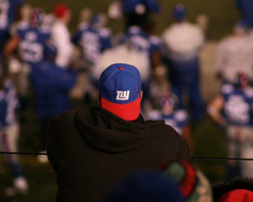 New York Giants fan in MetLife Stadium
