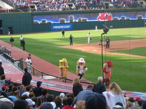Hotdog Race Cleveland Indians