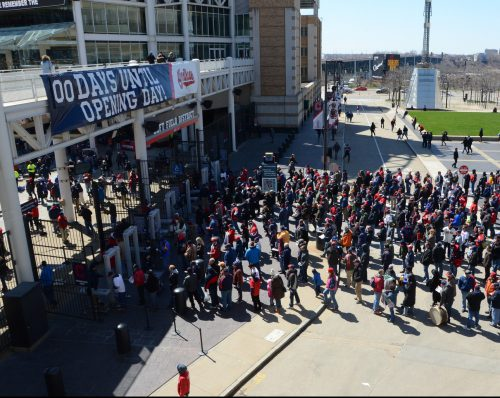 Cleveland Indians opening day at Progressive Field