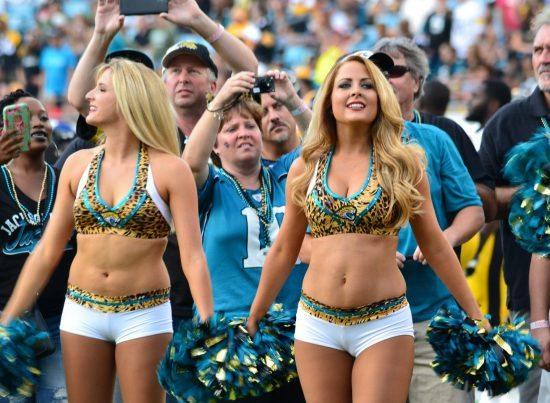Jacksonville Jaguars cheerleaders at the game