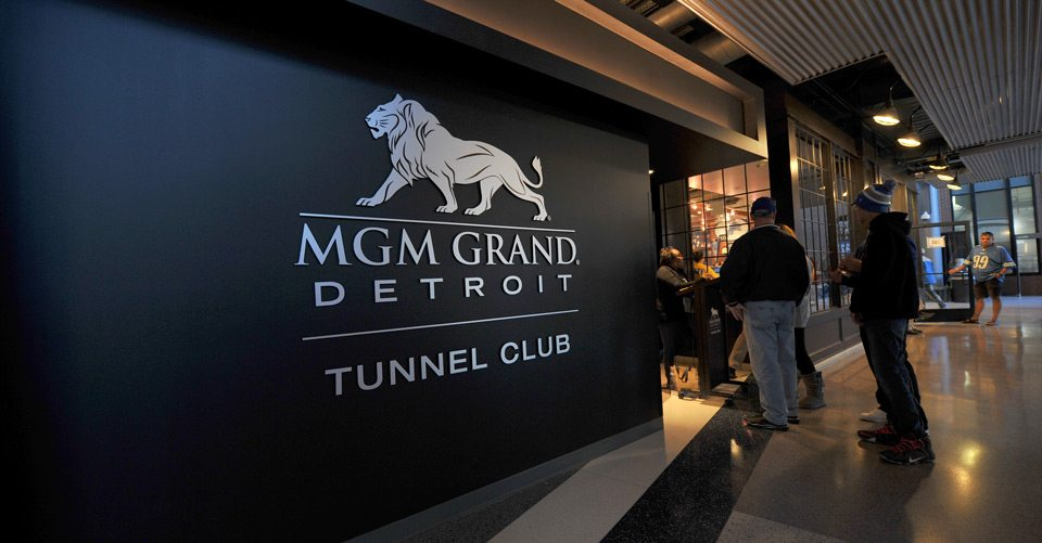 MGM Grand Tunnel Club Detroit Lions game