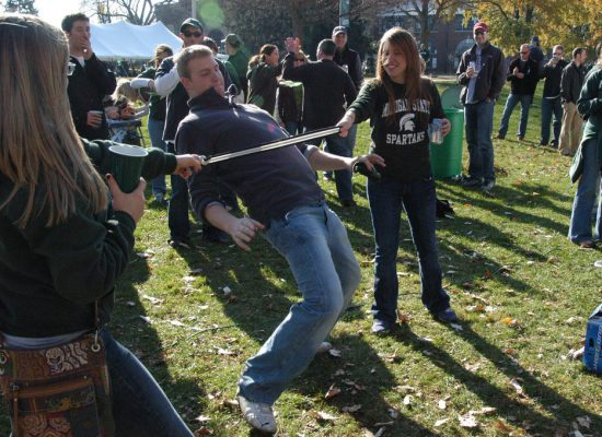 MSU Spartans tailgate party game