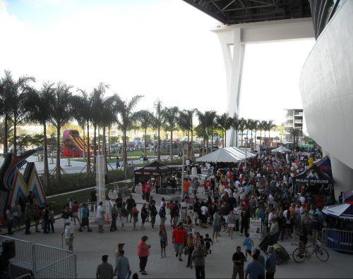 Miami Marlins fans concession