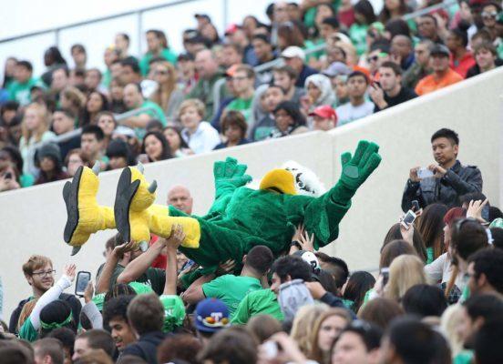 North Texas Mean Green mascot Scrappy