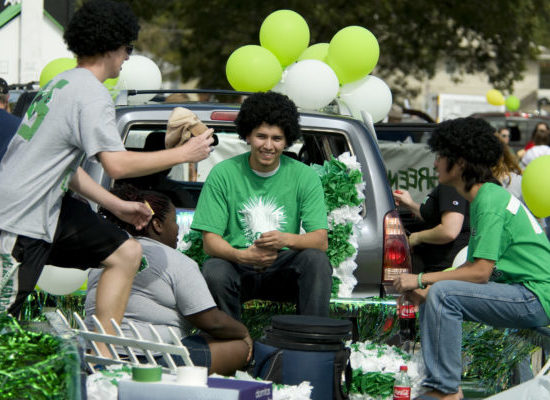North Texas Mean Green tailgating