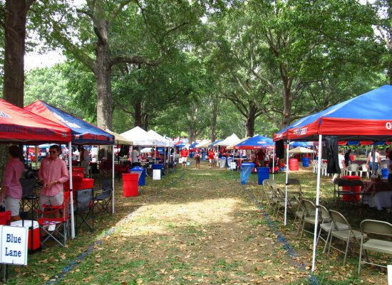 Ole Miss Rebels tailgate area