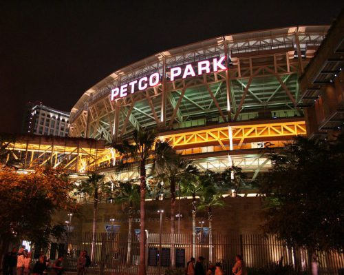 Petco Park night lights