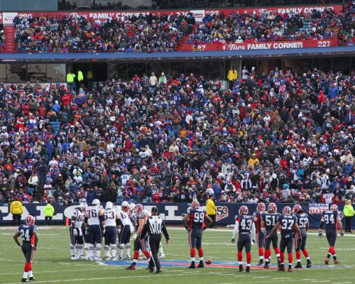 NFL football game New England Patriots players