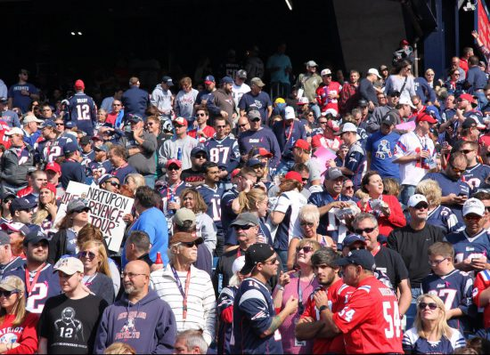 Pats fans attending the New England Patriots game