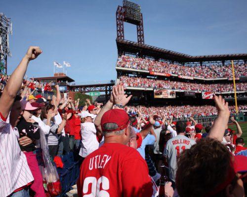 Philadelphia Phillies fans at the Citizens Bank Park
