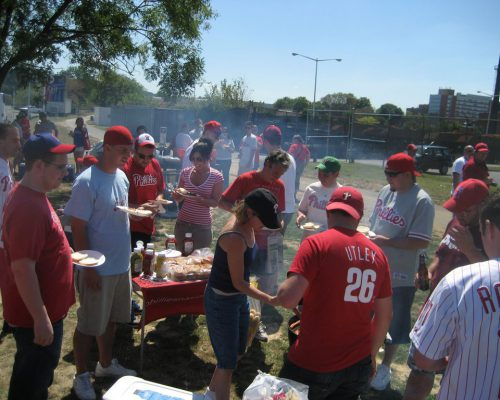 Philadelphia Phillies fans tailgate party barbecue