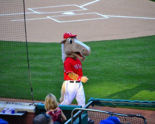 Rangers Captain mascot on gameday