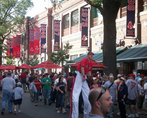 fans tailgating at Boston Red Sox game