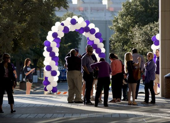 TCU Horned Frogs pep rally