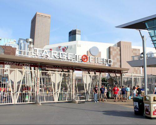 Target Plaza gate Minnesota Twins game