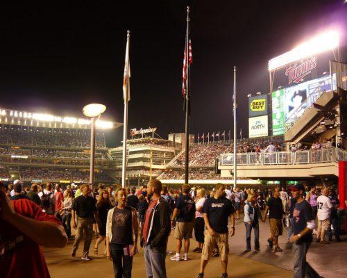 Minnesota Twins fans Plaza Entrance of Target Field
