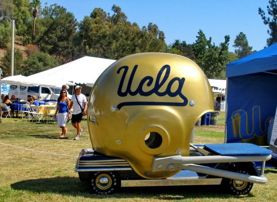 UCLA Bruins giant helmet golf cart
