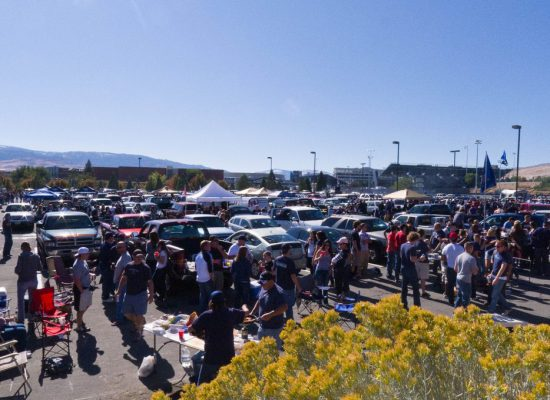 UNLV Rebels fans at parking lot on football gameday