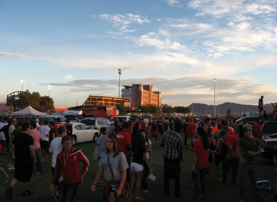 UNLV Rebels fans at tailgate area