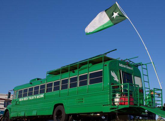 North Texas Mean Green bus