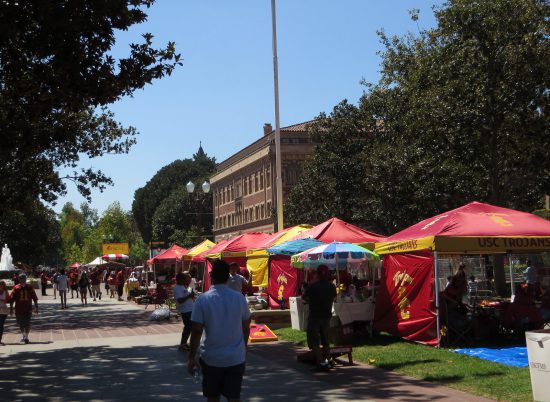 USC Trojans campus tailgate