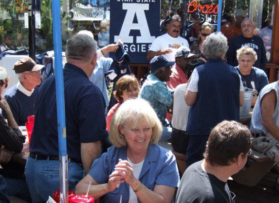 Utah State Aggies fans tailgating