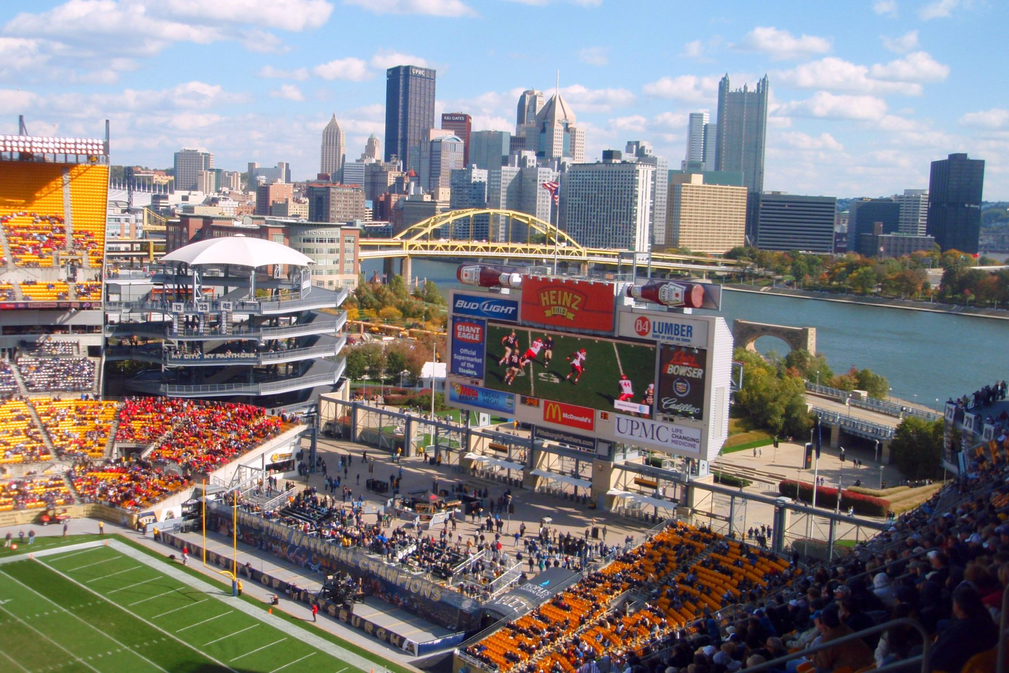 View of Downtown Pittsburgh and River from Heinz Field