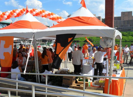 Tennessee Volunteers fans on tailgate lot