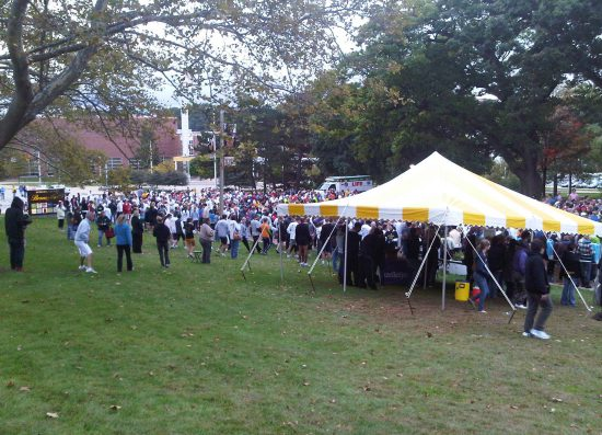 Western Michigan Broncos fans tailgating on football gameday