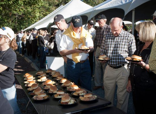 Wake Forest Demon Deacons tailgate food burger