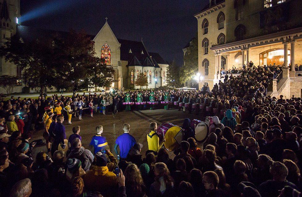 Notre Dame Drum Circle