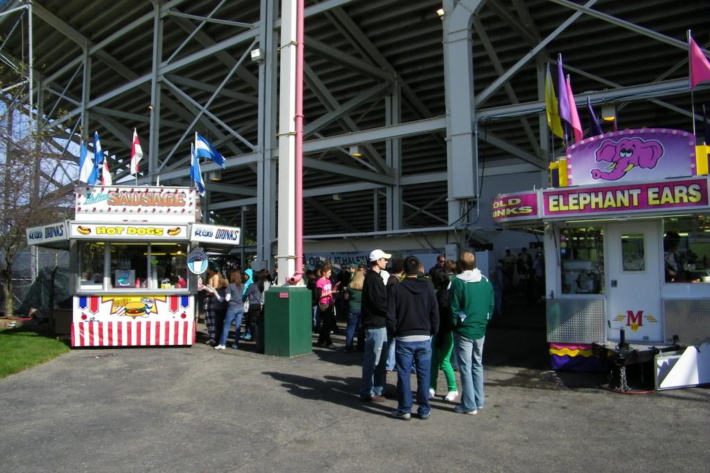 EMU Eagles fans at Rynearson Stadium