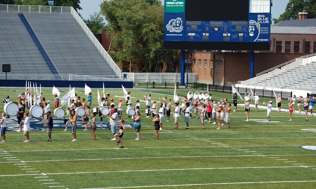 ODU Monarchs marching band
