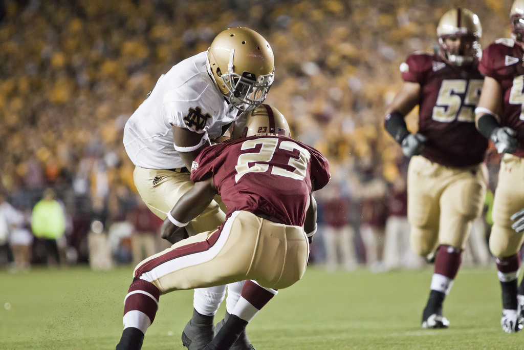 Holy War Boston College Eagles vs Notre Dame Fighting Irish football game