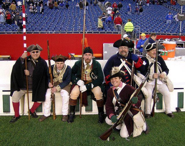 End Zone Militia gun salute for the New England Patriots team