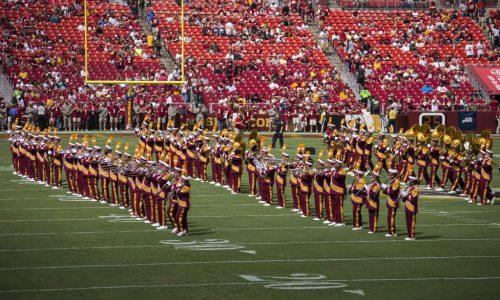 Washington Redskins band at FedEx Field