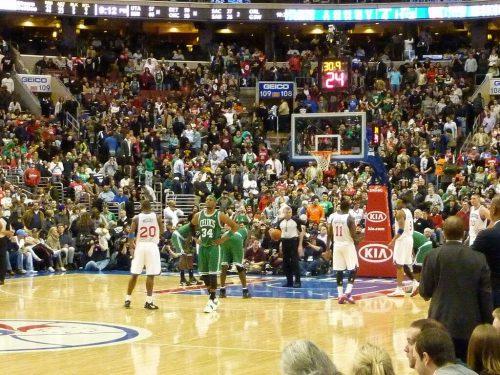 Boston Celtics vs Philadelphia Seventy Sixers game
