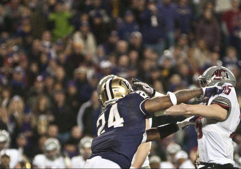 Washington Huskies vs Washington State University Cougars football game